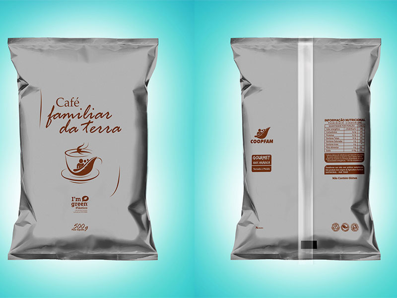 Embalagens de café orgânico serão produzidas com plástico verde