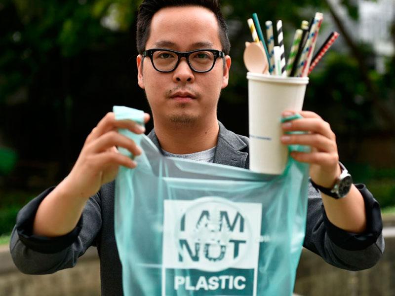 Kevin Kumala é o criador do saco biodegradável