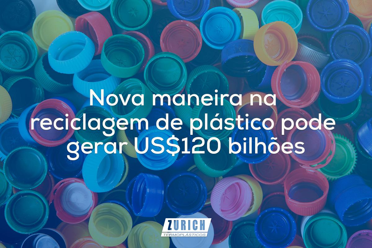 Nova maneira na reciclagem de plástico pode gerar US$120 bilhões