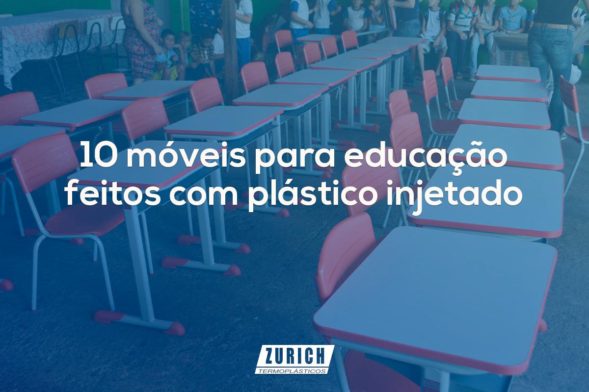 10 móveis para educação feitos com plástico injetado